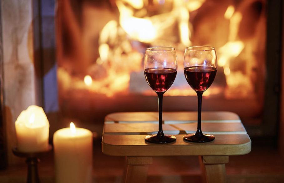 Christmas season wine cellar