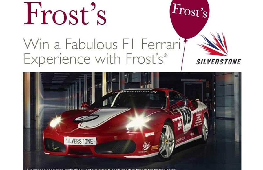 Win a Fabulous F1 Ferrari Thrill Experience