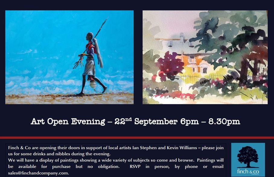 Finch & Co Art Open Evening