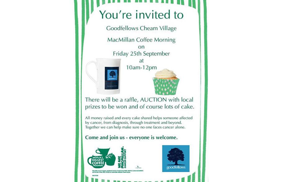 Macmillan Coffee Morning - Cheam Village
