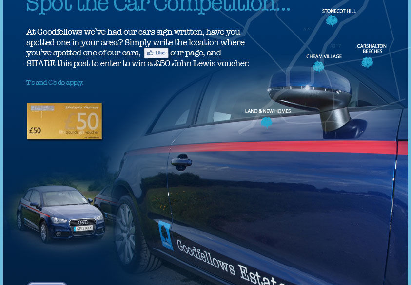 'Spot the Car Competition' & enter to WIN £50 John Lewis Voucher