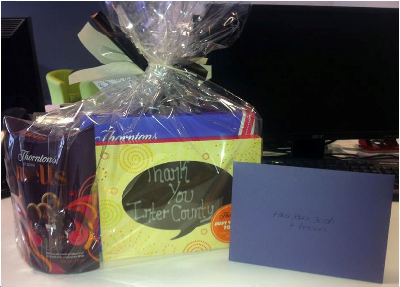 Intercounty Bishop's Stortford Received A Wonderful Gift From A Happy Vendor