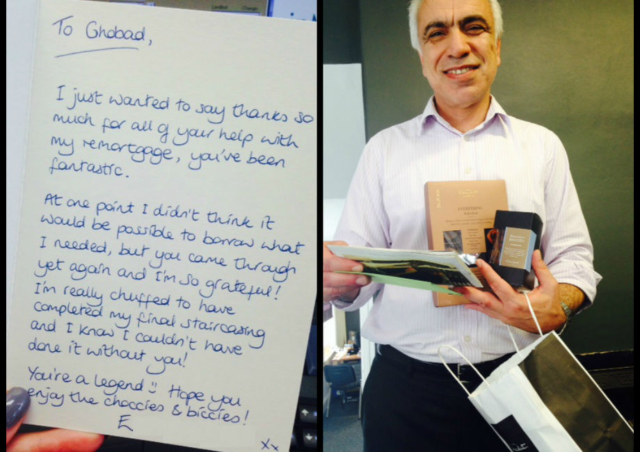Great Gifts Given To Ghobad By A Grateful Client!