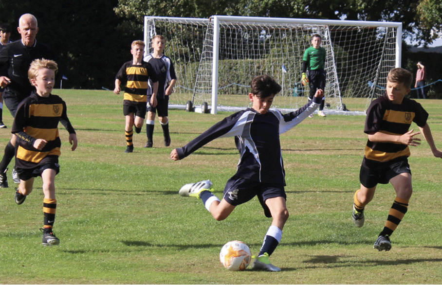 Soccer start at Chigwell School